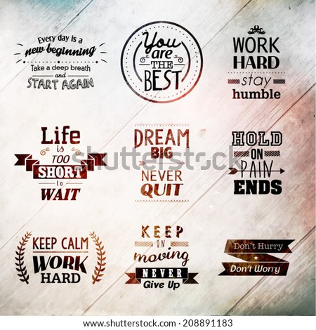 Inspirational and encouraging quote vector design
