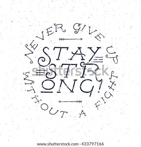 inspirational chalk typography