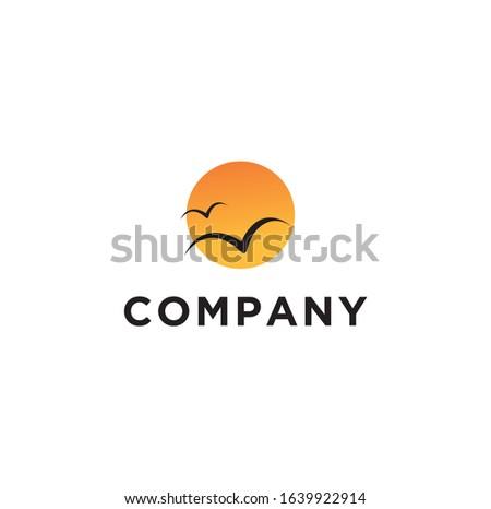 inspirational logo  sunset