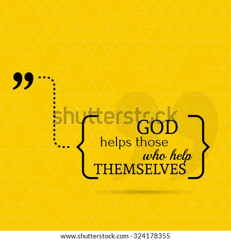 inspirational quote god helps