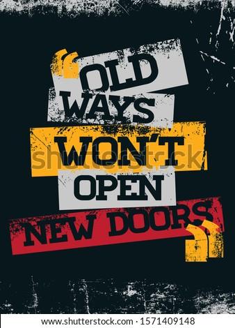 Open The Door  Inspirational Motivational Quote Typography Poster Jesus Christ