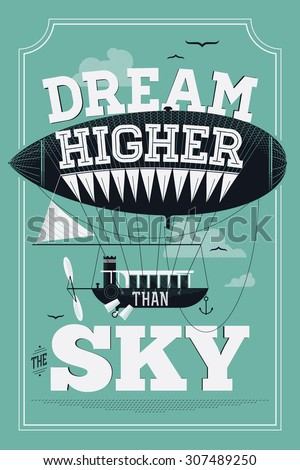 inspirational vector poster