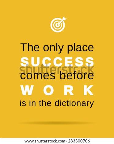 inspirational work and success