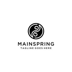 Inspire the sign / logo of a Yin Yang that is in the form of abstract with beautiful line art.