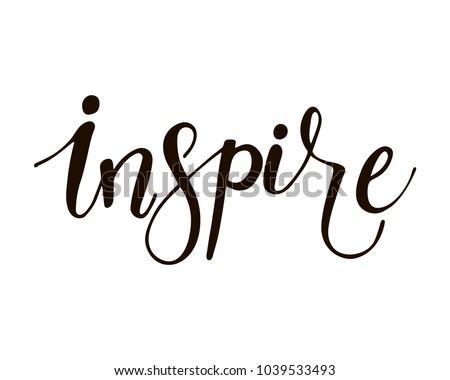 inspire   unique hand drawn