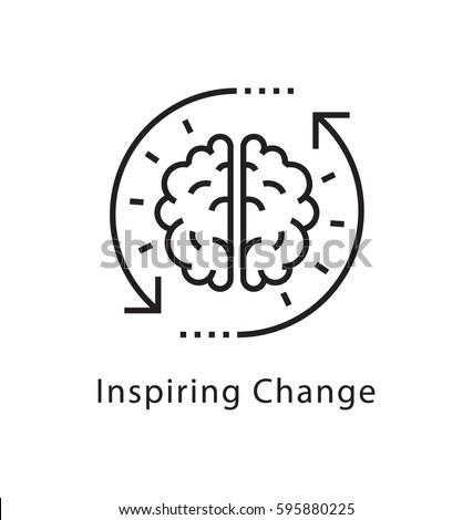 inspiring change vector line