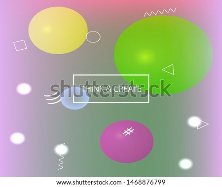Inspiring colorful geometric modern background. Vector illustration Simple backdrop with simple muffled colors.