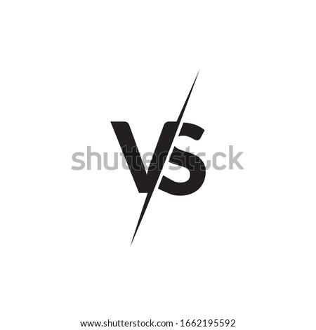 Inspiring logo designs from VS or Versus letters Stock fotó ©