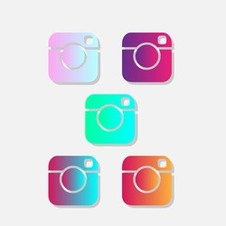 instagram abstract, instant camera abstract,New vector Instagram logo.