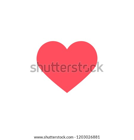 Instagram. Heart shape. Like icon. Social media icon. Vector illustration.