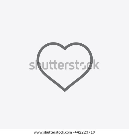 Instagram Like Icon vector, Social Media sign, Heart, Love, UI element, User Interface symbol, 2016 Outline shape