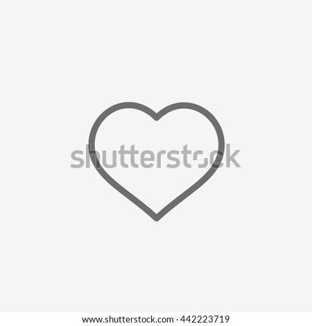 Instagram Like Icon vector, Social Media sign, Heart, Love, UI element, User Interface symbol, 2016 Outline shape