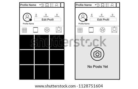 Instagram Photo Frame or menu Illustration Vector