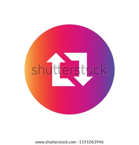 Instagram Repost icon vector. Instagram symbol. Linear style sign for mobile concept and web design. Repost symbol logo illustration. vector graphics - Vector.
