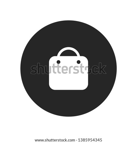 Instagram Shopping Bag Icon Isolated On White Background. Basket Symbol Modern Simple Vector For Web Site Or Mobile App