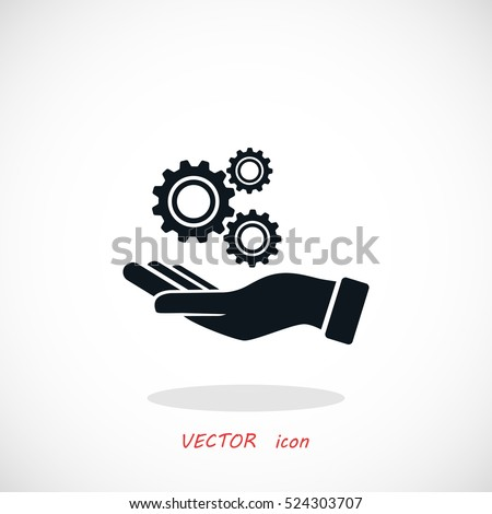 Installation and support icon, flat design best vector icon