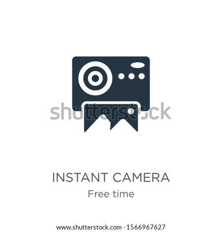 Instant camera icon vector. Trendy flat instant camera icon from free time collection isolated on white background. Vector illustration can be used for web and mobile graphic design, logo, eps10
