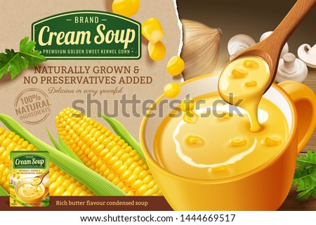 instant corn cream soup ads