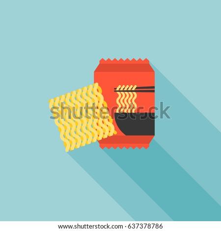 instant noodle icon  flat
