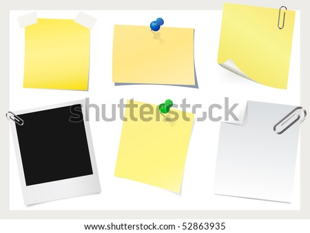 Instant photo & sticky note