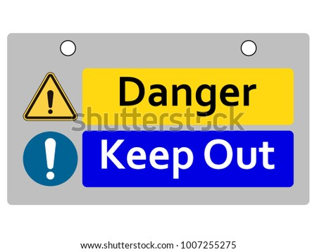 Instant safety sign or warning sign, Notice board or safety sign for dangerous area and industrial area, Red zone area must be carefully.
