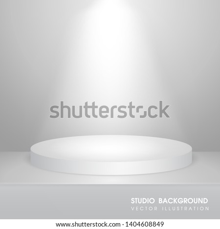 Instead of a sphere for displaying products or trophies of the winners Gradient gray background.