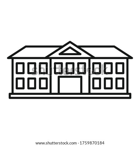 Institute building icon. Outline institute building vector icon for web design isolated on white background Photo stock ©