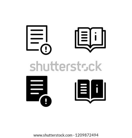 Instruction Icon Logo Vector Symbol. User Manual Icon