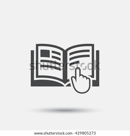 Instruction sign icon. Manual book symbol. Read before use. Flat instructions web icon on white background. Vector