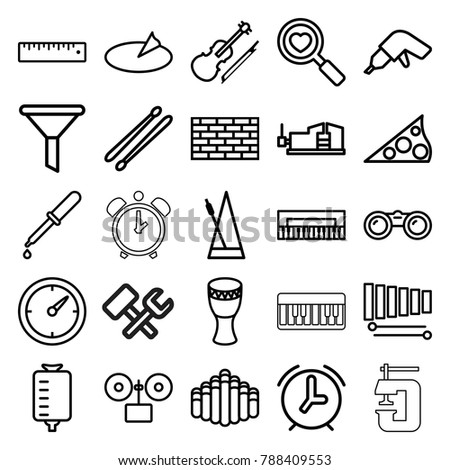 instrument icons set of 25