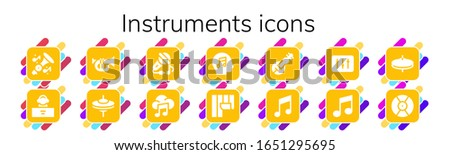 instruments icon set 14 filled