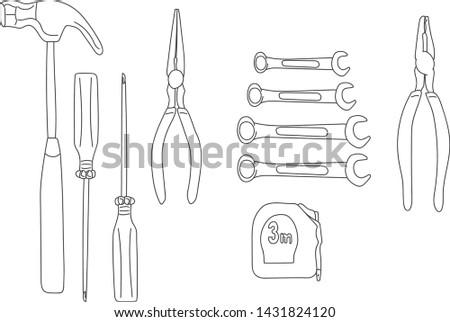 instruments, tools for repair. tools