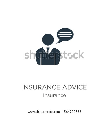 Insurance advice icon vector. Trendy flat insurance advice icon from insurance collection isolated on white background. Vector illustration can be used for web and mobile graphic design, logo, eps10