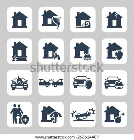 insurance and accidents vector