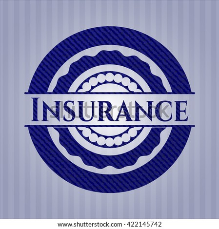 Insurance emblem with jean high quality background