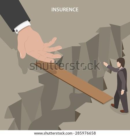 insurance isometric vector