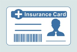 Insurance medical card.