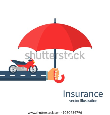 insurance motorcycle vector