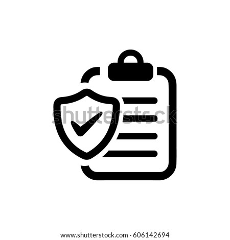 Insurance Policy Icon Stock photo ©