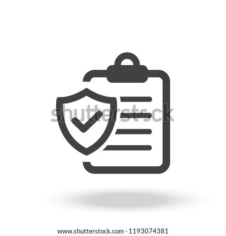 Insurance policy Icon vector