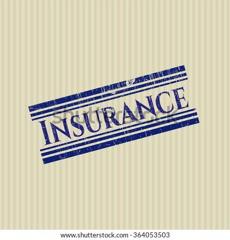 Insurance rubber grunge texture stamp