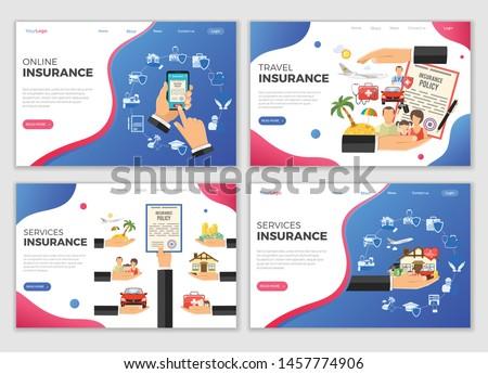 insurance services landing web