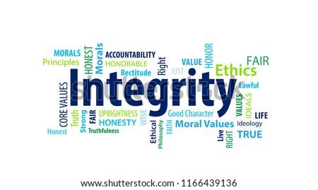Integrity Word Cloud Stock photo ©