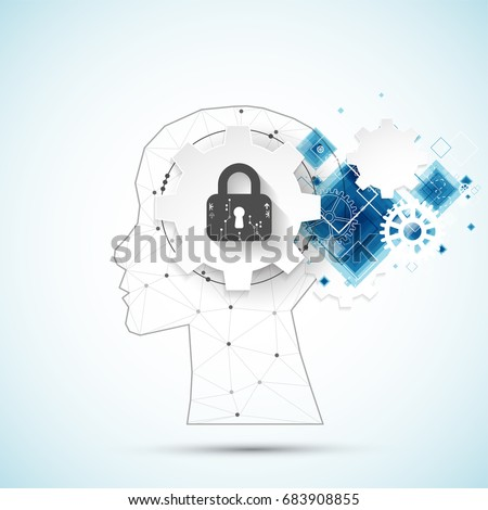 Intellectual property concept background. Vector science illustration