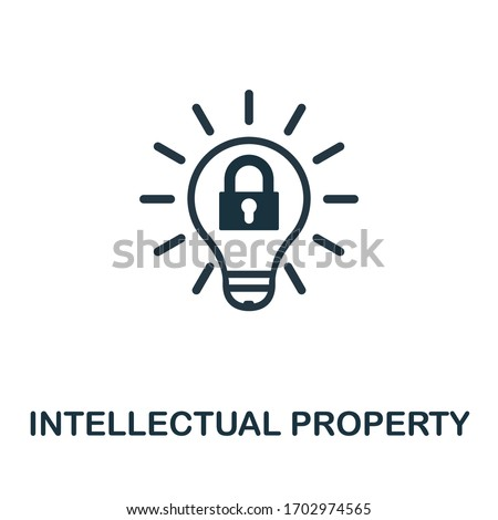 Intellectual Property icon. Simple element from intellectual property collection. Filled Intellectual Property icon for templates, infographics and more.