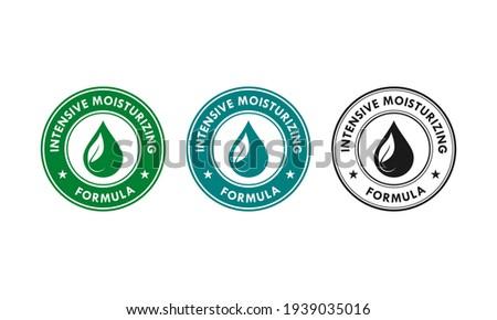 Intensive moisturizing logo template illustration Photo stock ©