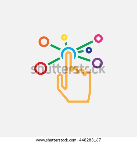 interactive interface line icon, color outline vector illustration, linear pictogram isolated on white