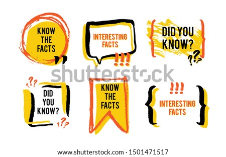interesting facts speech bubble