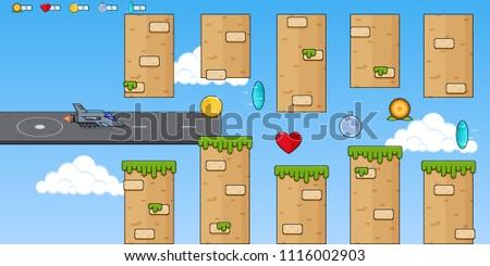 interface 8 bit game  pixel art