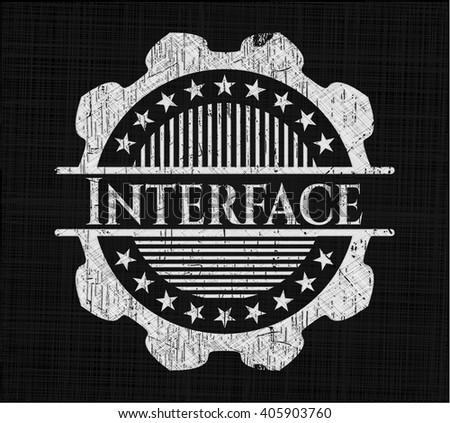 Interface chalkboard emblem